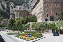 Santa Maria de Montserrat Abbey en Monistrol de Montserrat, Cata Fotos de archivo