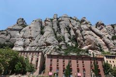 Santa Maria de Montserrat Abbey en Monistrol de Montserrat, Cata Foto de archivo