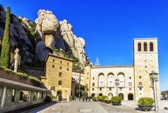 Santa Maria de Montserrat Abbey en Monistrol de Montserrat, Cata Fotografía de archivo libre de regalías