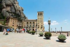 Santa Maria de Montserrat Abbey i Monistrol de Montserrat, Cata Royaltyfri Foto
