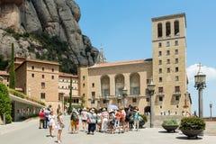 Santa Maria de Montserrat Abbey i Monistrol de Montserrat, Cata Arkivbilder