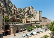 Santa Maria de Montserrat Abbey i Monistrol de Montserrat, Cata Fotografering för Bildbyråer