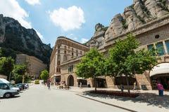 Santa Maria de Montserrat Abbey i Monistrol de Montserrat, Cata Royaltyfria Bilder