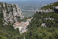 Santa Maria de Montserrat Abbey i Monistrol de Montserrat, Cata Royaltyfria Foton
