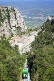 Santa Maria de Montserrat Abbey i Monistrol de Montserrat, Catalonia, Spanien Arkivbild