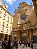 Santa Maria de Montserrat Abbey i Spanien Royaltyfri Bild