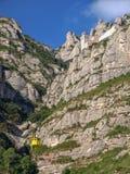 Santa Maria de Montserrat Abbey i Spanien Arkivbilder