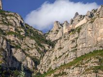 Santa Maria de Montserrat Abbey i Spanien Arkivfoton
