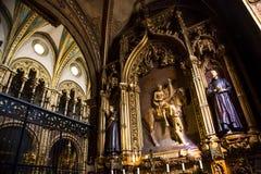 Santa Maria de Montserrat Abbey interiour Arkivfoto