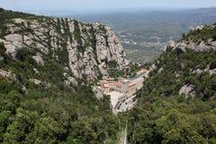 Santa Maria de Montserrat Abbey in Monistrol de Montserrat, Cata Royalty Free Stock Photography