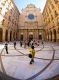 Santa Maria de Montserrat Abbey, Montserrat, Cataluña, España Imagen de archivo