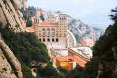 Santa Maria de Montserrat Abbey Stock Image