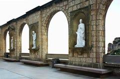 Santa Maria de Montserrat Abbey nära Barcelona spain Royaltyfria Foton
