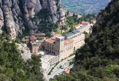 Abbey Santa Maria de Montserrat, Catalonia, Spain. Royalty Free Stock Photos