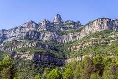 Santa Maria de Montserrat. Cataluña, España. Imagen de archivo