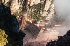 Santa Maria de Montserrat es una abadía benedictina Fotos de archivo libres de regalías