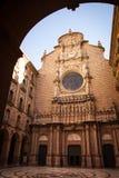 Santa Maria de Montserrat es una abadía benedictina Imagen de archivo libre de regalías