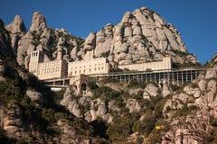 Santa Maria de Montserrat es una abadía benedictina Foto de archivo libre de regalías