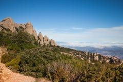 Santa Maria de Montserrat ist eine Benediktinerabtei, Landschaft Lizenzfreies Stockbild