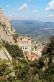 Santa Maria de Montserrat-Kloster, Spanien Stockbilder