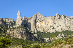 Santa Maria de Montserrat-Kloster. Spanien. Stockbilder