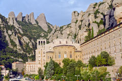 Santa Maria De Montserrat Monastery Royalty Free Stock Photography