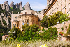 Santa Maria de Montserrat monastery Royalty Free Stock Images