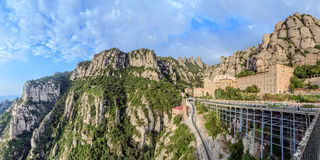 Santa Maria de Montserrat monastery, Catalonia, Spain.  Stock Photo