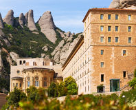 Santa Maria de Montserrat monastery in Pyrenees Royalty Free Stock Photos