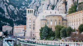 Santa Maria de Montserrat monastery. Spain. Royalty Free Stock Photos