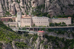 Santa Maria de Montserrat Monastery in Spain Royalty Free Stock Photo