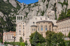 Santa Maria de Montserrat in Spain Stock Images