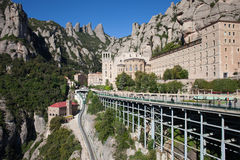 Santa Maria de Montserrat in Spain Royalty Free Stock Photography
