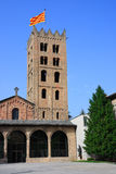 Santa Maria de Ripoll monastery (Catalonia, Spain) Stock Photography