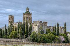Santa Maria de Santes Creus, Spanien Stockfotografie