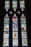 Santa Maria De Valldonzella monaster, witrażu okno Obraz Stock