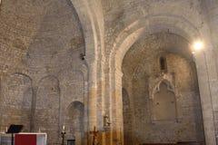 Santa Maria de Vilabertran, Alt Empor Stock Afbeelding