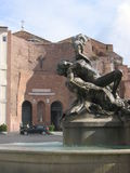Santa Maria degli Angeli - Rome. Santa Maria degli Angeli View with Fountain - Rome - Italy Stock Photography
