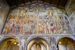 Santa Maria degli Angioli church at Lugano, Switzerland Stock Images