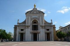 Santa Maria degliangelöss i Assisi Arkivbild
