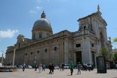 Santa Maria-degliangelussen in Assisi Stock Foto