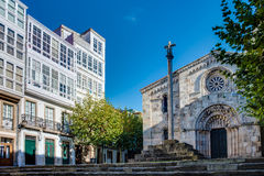 Santa Maria del campo in A Coruna, Galicia, Spain stock photography