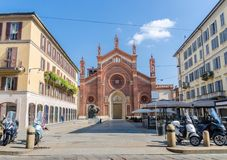 Santa Maria del Carmine Church in Brera, Milan, Stock Images