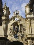 Santa Maria del Coro kyrka, i San Sebastian (Spanien) fotografering för bildbyråer