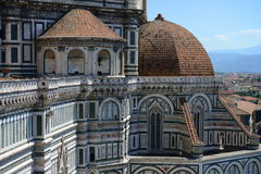 Santa Maria del Fiore cathedral architectural details Royalty Free Stock Photos