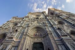 Santa Maria del Fiore Cathedral in Florence. A view of the Santa Maria del Fiore Cathedral in Florence, Italy Royalty Free Stock Images
