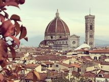 Santa Maria del Fiore cathedral, Florence Duomo. stock photo