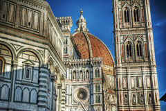 Santa Maria del Fiore cathedral in Florence Stock Photos