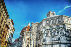 Santa Maria del Fiore cathedral in Florence Royalty Free Stock Photos