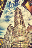 Santa Maria del Fiore cathedral in Florence under a dramatic sky Stock Photography
